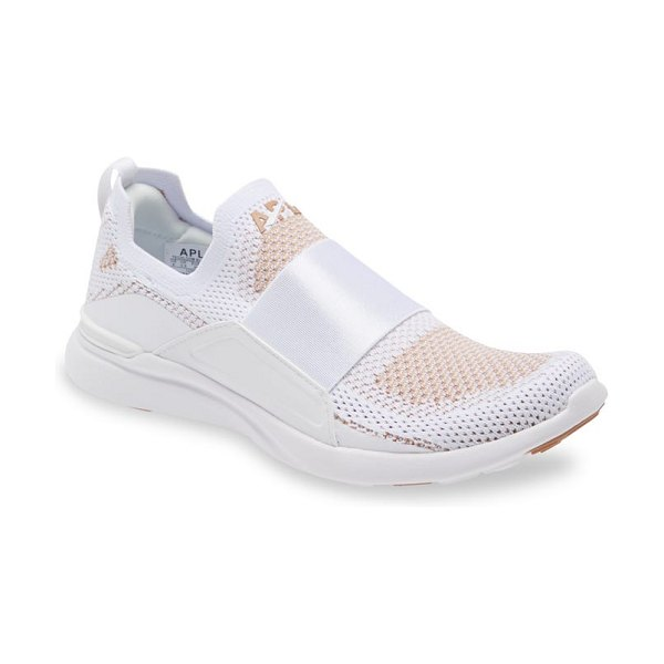 APL: Athletic Propulsion Labs techloom bliss knit running shoe in white / caramel