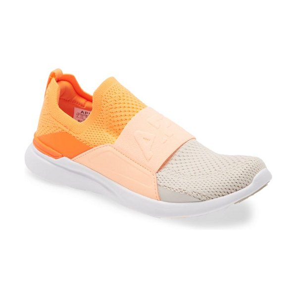 APL: Athletic Propulsion Labs techloom bliss knit running shoe in molten / neon peach / sand