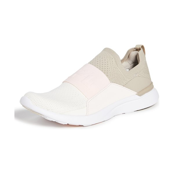 APL: Athletic Propulsion Labs techloom bliss sneakers in taupe/nude/pristine