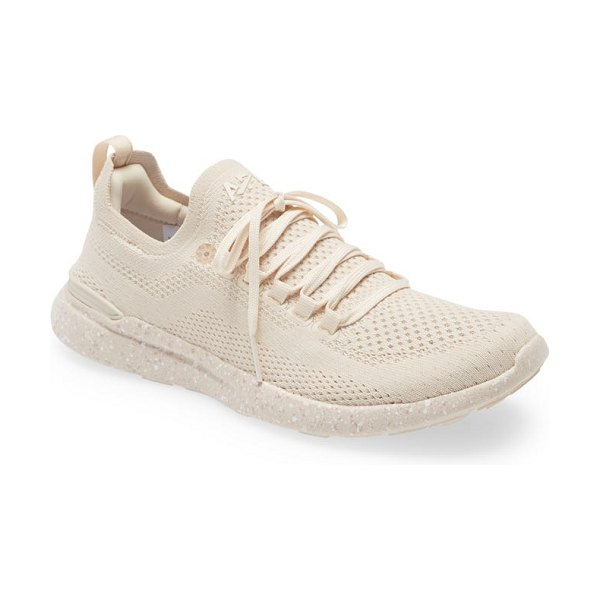 APL: Athletic Propulsion Labs techloom breeze knit running shoe in beach / speckle