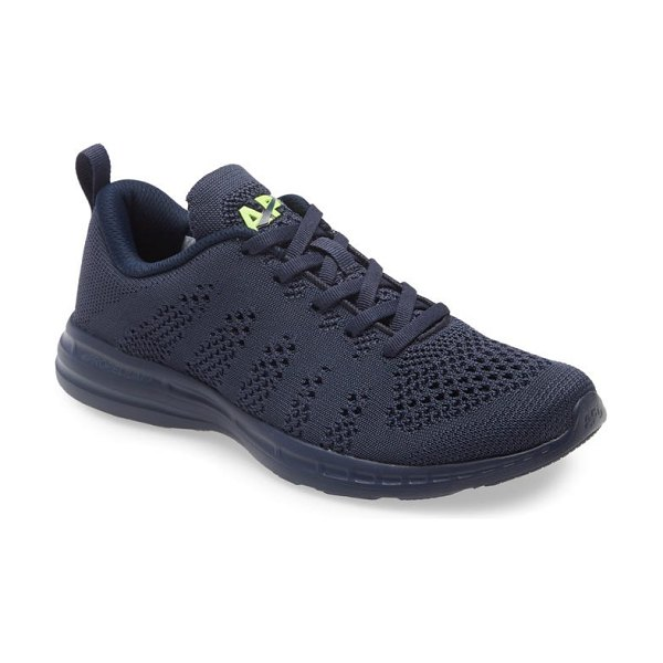 APL: Athletic Propulsion Labs techloom pro knit running shoe in midnight / energy