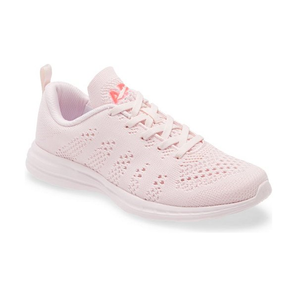 APL: Athletic Propulsion Labs techloom pro knit running shoe in bleached pink / magenta