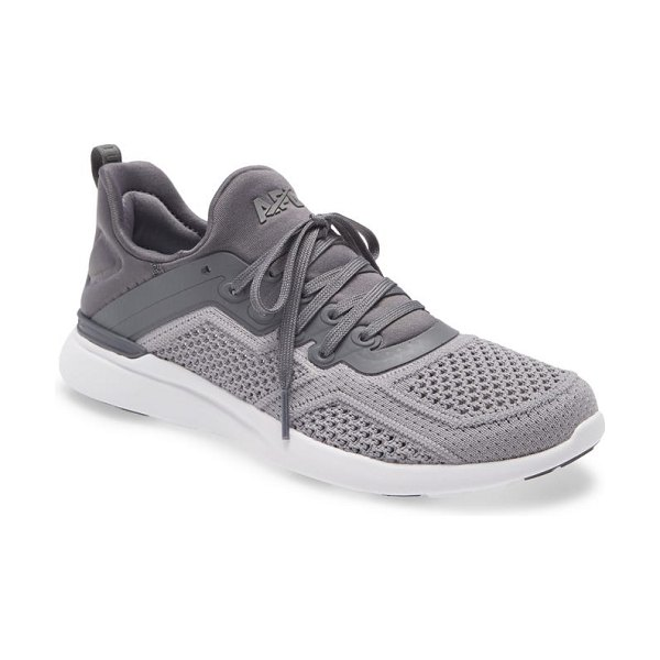 APL: Athletic Propulsion Labs techloom tracer knit training shoe in smoke / cement / white