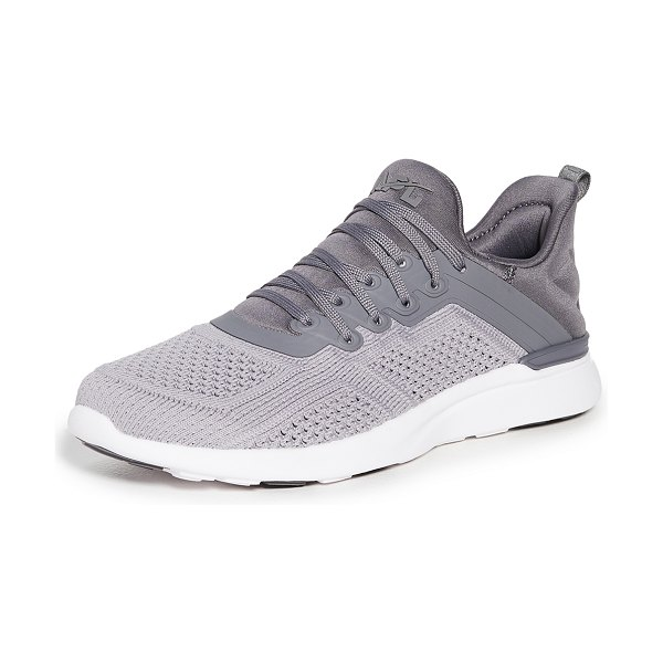 APL: Athletic Propulsion Labs techloom tracer sneakers in smoke/cement/white