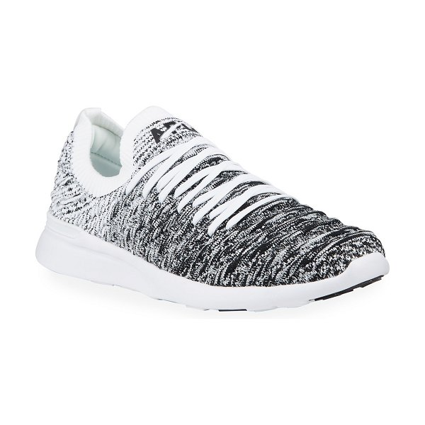APL: Athletic Propulsion Labs Techloom Wave Ombre Two-Way Running Sneakers in white/black ombre