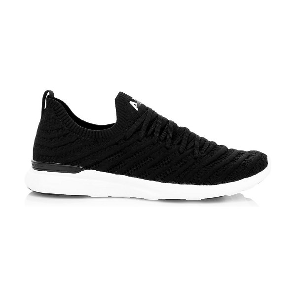 APL: Athletic Propulsion Labs techloom wave sneakers in black white