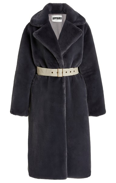 Apparis m'o exclusive nina faux fur coat in grey