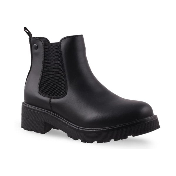 AQUADIVA alesse water resistant chelsea boot in black leather