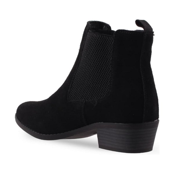 AQUADIVA datcha water resistant chelsea boot in black suede