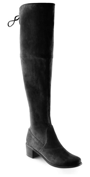 AQUADIVA fresno water resistant over the knee boot in black suede