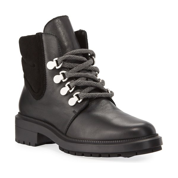 Aquatalia Libbie Lug-Sole Hiker Booties in black