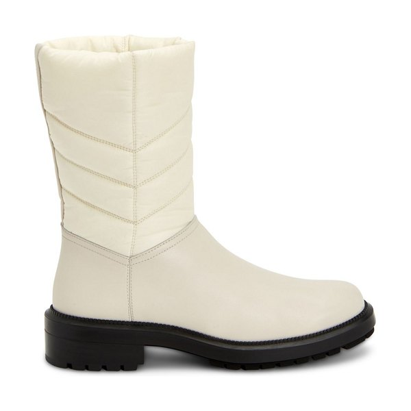 Aquatalia lori quilted leather & nylon boots in white