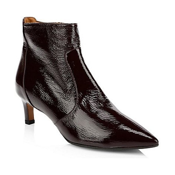 Aquatalia marilisa patent leather ankle boots in black