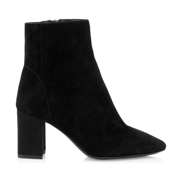 Aquatalia posey suede ankle boots in black,navy