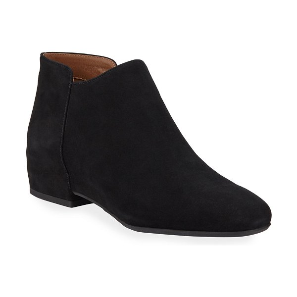 Aquatalia Udele Side Zip Suede Booties in black