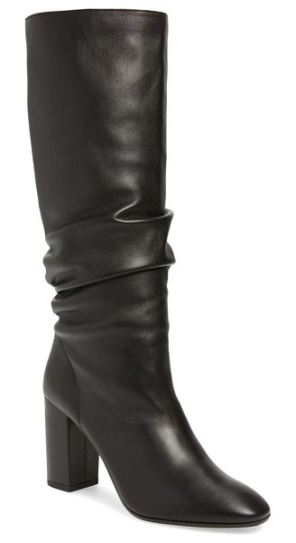 Aquazzura boogie slouch boot in black