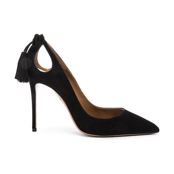 405a4e2fdadc Aquazzura Forever Marilyn Heels in black - Suede upper with leather sole.  Made in Italy