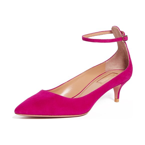 AQUAZZURA kisha 45 pumps - Pointed-toe Aquazzura pumps rendered in vibrant suede....