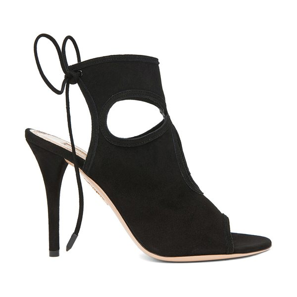 Aquazzura Sexy Thing Suede Heels in black - Suede upper with leather sole.  Made in Italy.  Approx...