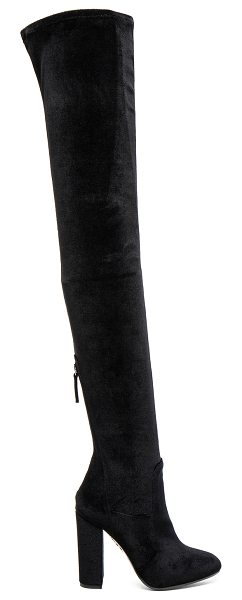 AQUAZZURA Velvet Thigh Highs - Velvet upper with leather sole.  Made in Italy.  Shaft...
