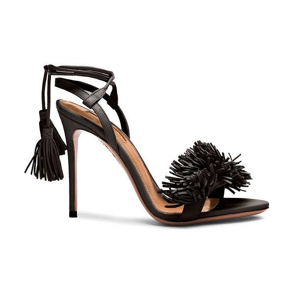 AQUAZZURA Wild Thing Leather Heels - Leather upper and sole.  Made in Italy.  Approx 100mm/ 4...