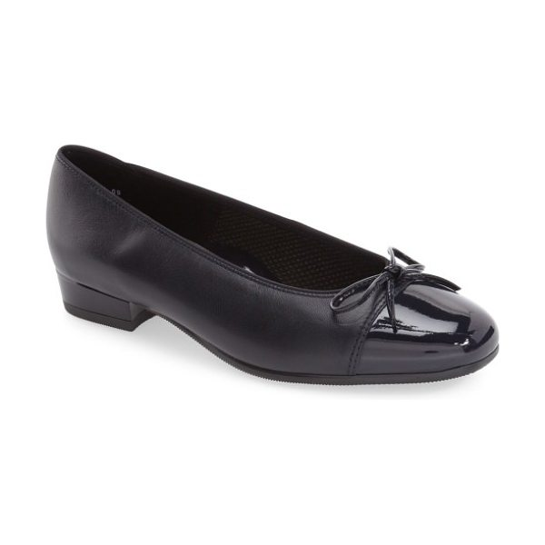 ara 'bel' cap toe pump in navy leather