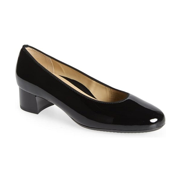 ara vivian pump in black soft patent leather