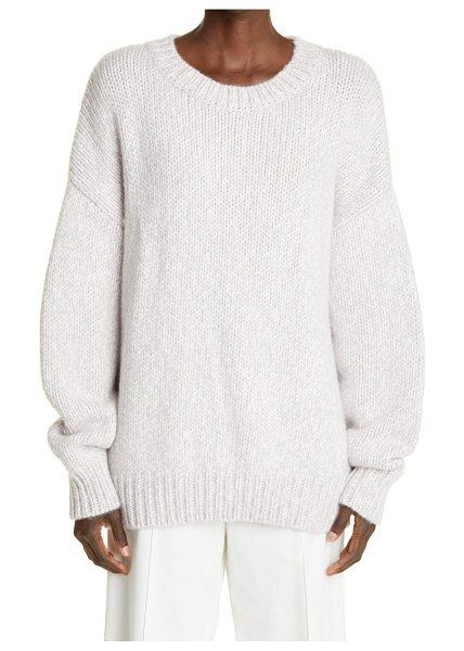 Arch4 oban ultra luxe cashmere pullover in elderberry marl at nordstrom in elderberry marl