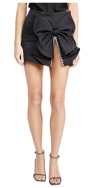 AREA butterfly bow skirt in black