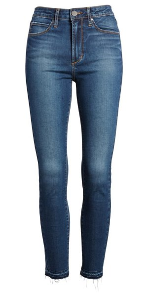 ARTICLES OF SOCIETY heather high waist crop skinny jeans - Gentle fading through the thighs and frayed, released...