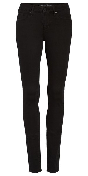 Articles of Society mya ankle skinny jeans in blackhawk - These super-skinny ankle jeans in an inky black wash...