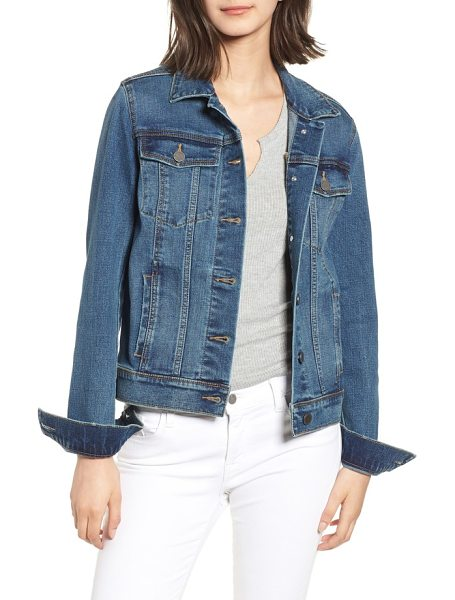 Articles of Society taylor denim jacket in blue - The classic fit and simple design ensure this...