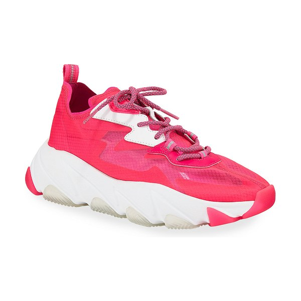 Ash Eclipse Neon Fabric Sneakers in pink