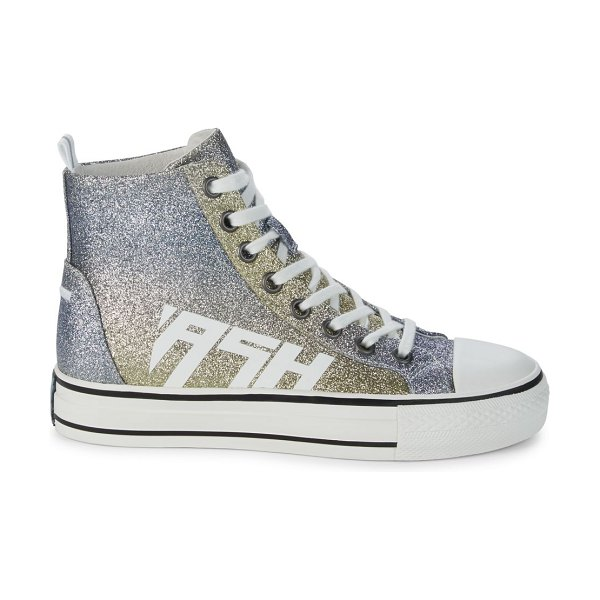 Ash Glover High-Top Glitter Sneakers in ice blue