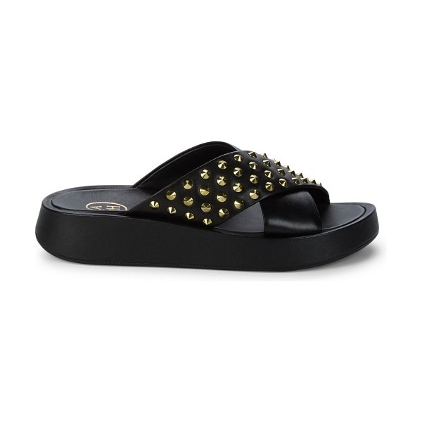 Ash Studded Leather Sandals in black
