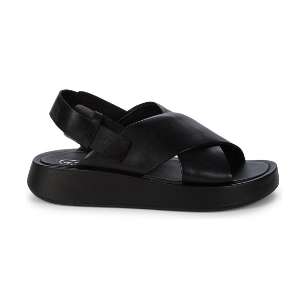 Ash Verdi Leather plaform Sandals in black