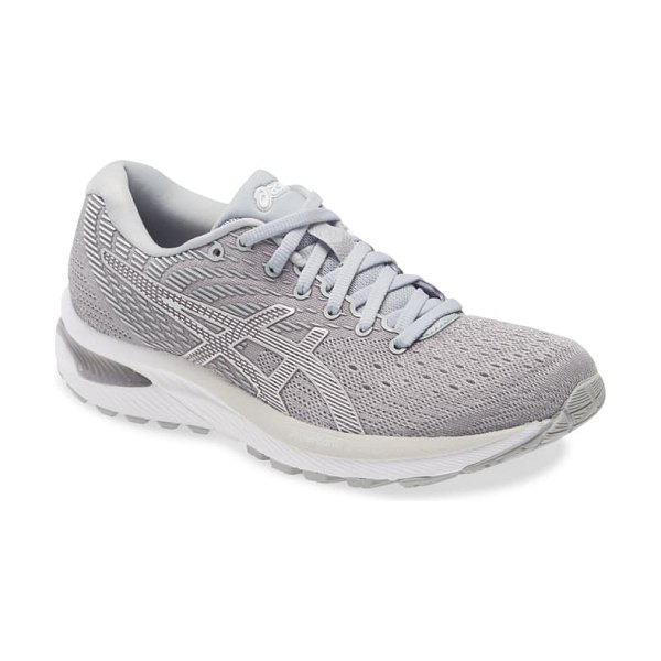 Asics asics gel-cumulus 22 running shoe in piedmont grey/white