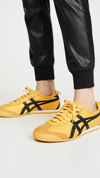 Asics mexico 66 sneakers in yellow/black