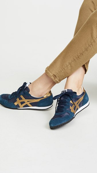 Asics serrano sneakers in navy/gold