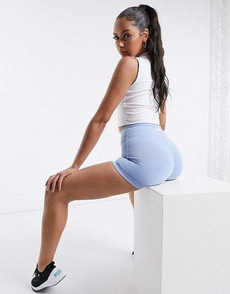 ASOS 4505 icon training booty short in cotton touch-blue in blue