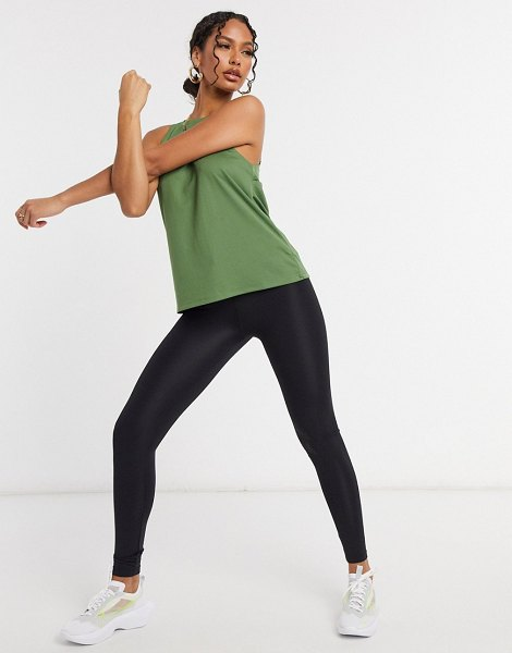 ASOS 4505 tank with wrap panel detail-green in green