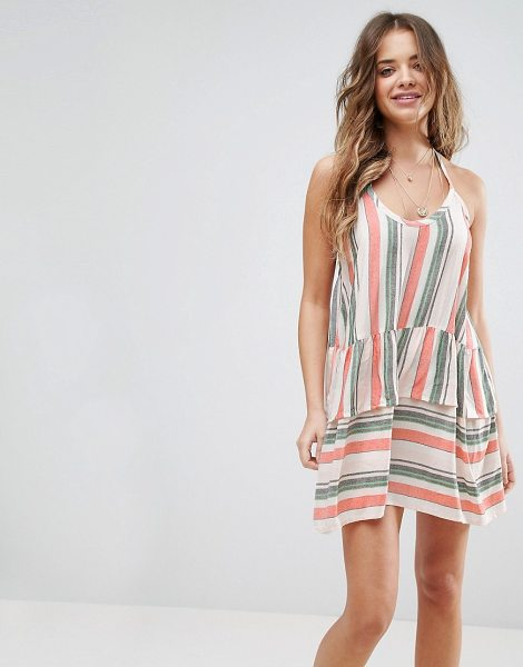 "ASOS Beach Washed Stripe Halter Neck Dress in multi - """"Beach dress by ASOS Collection, Lightweight woven..."