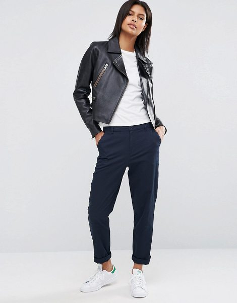 ASOS DESIGN chino pants in navy-blue in blue