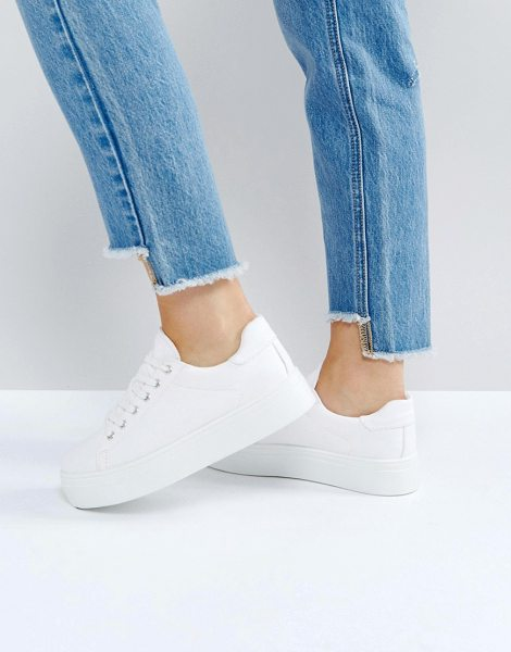 ASOS DESIGN day light chunky flatform lace up sneakers in white - Sneakers by ASOS DESIGN, All-white, alright? Round toe,...