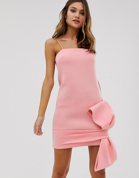 ASOS DESIGN bow detail shift mini dress-pink in pink