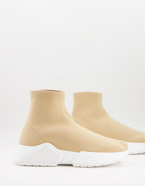 ASOS DESIGN della sock sneakers in beige-neutral in neutral