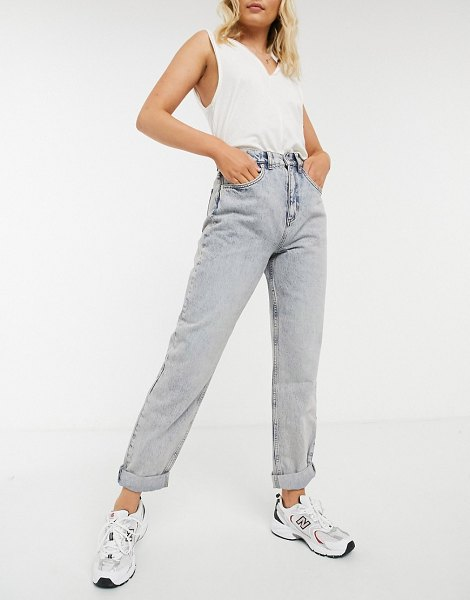 ASOS DESIGN high-rise slouchy mom jeans in antique wash-blue in blue