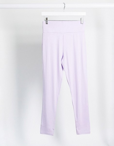 ASOS DESIGN hourglass mix & match deep waistband legging in lilac matching set-purple in purple