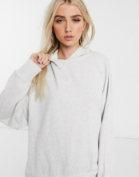 ASOS DESIGN oversized cocoon hoodie in ice marl-white in white