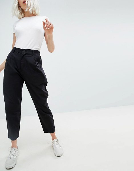 ASOS DESIGN peg pants in black in cleanblack - Pants by ASOS DESIGN, High rise, Just like your...